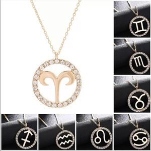Zodiac Constellation Rhinestone Necklace
